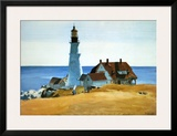 Lighthouse, Porthead Posters by Edward Hopper