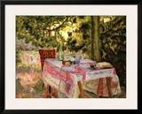 Table Set in a Garden Art by Pierre Bonnard