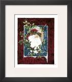 Santa's Portrait Print by Peggy Abrams