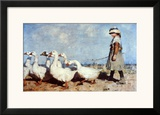 To Pastures New Print by Sir James Guthrie