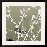 Autumn Branch (tan) Framed Giclee Print by Jenny Kraft