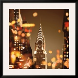 City Lights-New York Print by Kate Carrigan