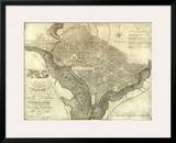Plan of the City of Washington, c.1795 Posters by John Reid