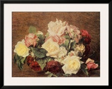Roses Posters by Henri Fantin-Latour