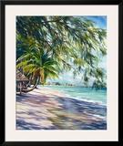 Shady Beach Art by Lois Brezinski