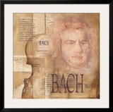 Tribute to Bach Poster by Marie Louise Oudkerk