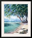 Coral Beach Poster by Lois Brezinski
