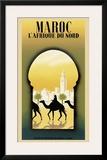 Maroc l'Afrique du Nord Framed Giclee Print by Steve Forney