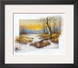 Winter at the Brook Prints by Johan De Jong