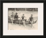 Duke Kahanamoku and Friends on Waikiki Beach, Honolulu, Hawaii Prints