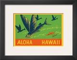 Flying Fish, Aloha Hawaii, c.1940 Prints