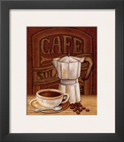 Cafe Mundo I Art by Charlene Audrey