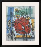 Tree Against a Red Background Print by Fernand Leger