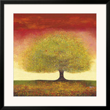Dreaming Tree Red Art by Melissa Graves-Brown