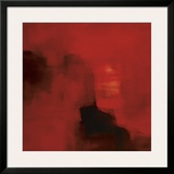 Mood in Red Framed Giclee Print by Nancy Ortenstone