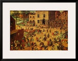 Children's Games Print by Pieter Bruegel the Elder