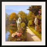 Water Garden I Print by Spartaco Lombardo