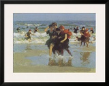 At The Seaside Poster by Edward Henry Potthast
