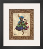 Monkey with Concertina Posters by Janet Kruskamp