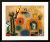 Libelle Mit Roten Flugeln Eine Schlange Jagend Prints by Joan Miró