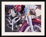 Purple Harley Posters by Tom Blackwell