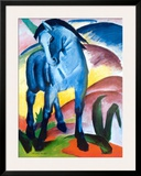 Blue Horse I Art by Franz Marc