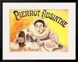 Pierrot Absinthe Framed Giclee Print by  LEM