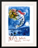 Nice Sun Flowers Posters by Marc Chagall