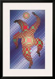 Clown (Blue) Posters by Victor Vasarely