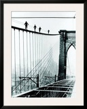 Brooklyn Bridge Climb, 1926 Prints