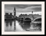The House of Parliament and Westminster Bridge Lámina por Grant Rooney