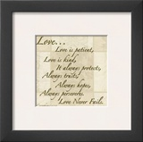 Words to Live By: Love Is Patient Art by Marilu Windvand