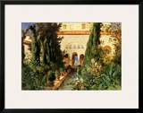 Der Garten des Generalife Bei Granada Prints by Hans Ludwig Fischer