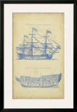 Vintage Ship Blueprint Print by  Chambers