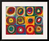 Colour Study - Squares And Concentric Circles Prints by Wassily Kandinsky