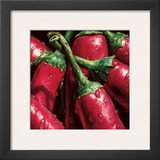 Hot Peppers Prints by  Alma'ch