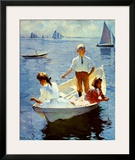 Calm Morning Poster by Frank Weston Benson