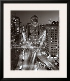Flatiron Building at Night Art by Henri Silberman