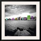 New York Beach Print by Anne Valverde
