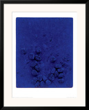 Blaues Schwammrelief (Relief Éponge Bleu: RE19), 1958 Posters by Yves Klein