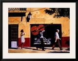 Contrebasse En Balade Poster by Alain Bertrand