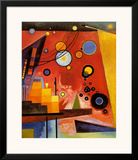 Heavy Red Posters by Wassily Kandinsky