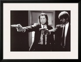 Pulp Fiction –  Duo with Guns (Jackson and Travolta) B & W Movie Poster Art