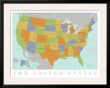 United States Map Prints