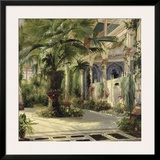 Interior of the Palm House at Potsdam I Prints by Karl Blechen