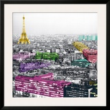 Eiffel Colours Posters by Anne Valverde