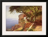 Pergola in Amalfi Posters by Carl Frederic Aagaard