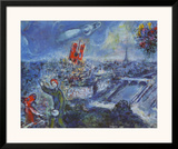 View of Paris Print by Marc Chagall