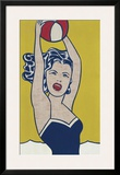 Girl with Ball Prints by Roy Lichtenstein