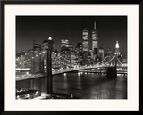New York, New York, Brooklyn Bridge Poster by Henri Silberman